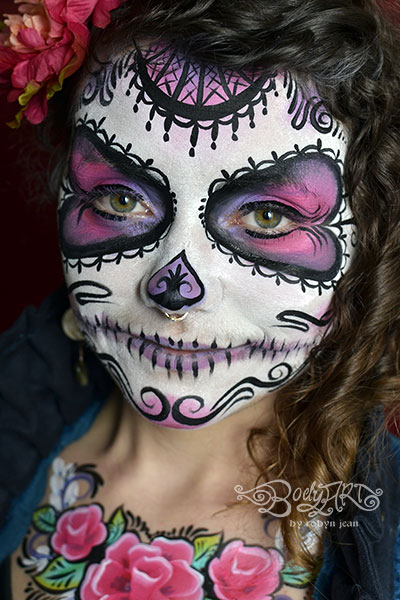 sugar skull day of the dead face painting bay area face painters san francisco